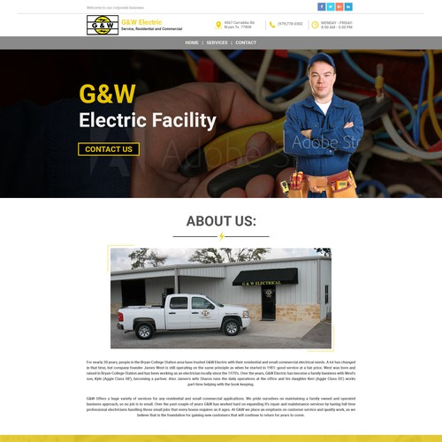 Website Design for G&W Electric