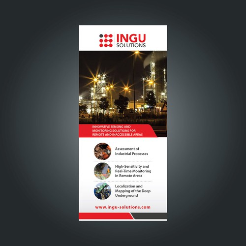 trade show banner for Ingu Solutions