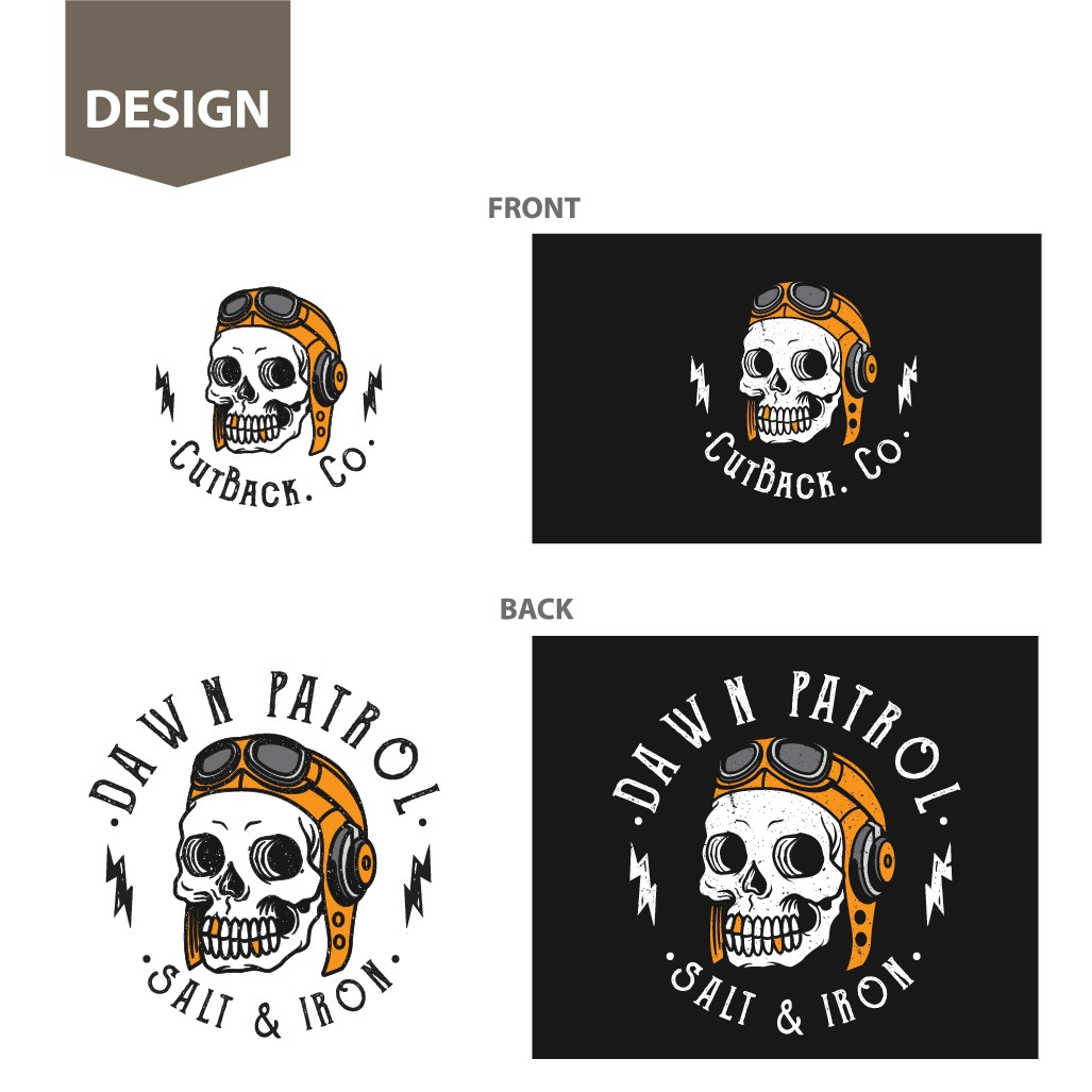 Design a T-shirt for CutBack Customs a Surf / MotorCycles / Fitness brand