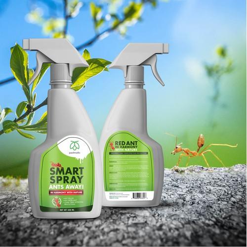 Label design for Ant Repellent Spray