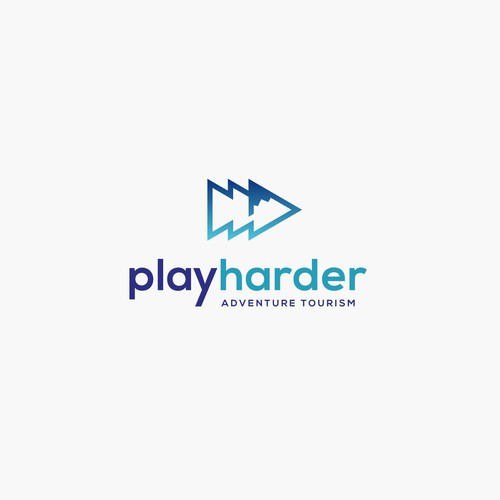 Logodesign for Play Harder - Adventure Tourism