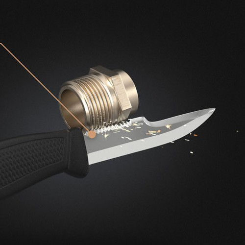3D image of a New Innovative Knife