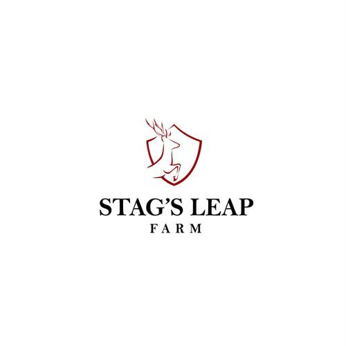 Stag's Leap Farm logo design concept