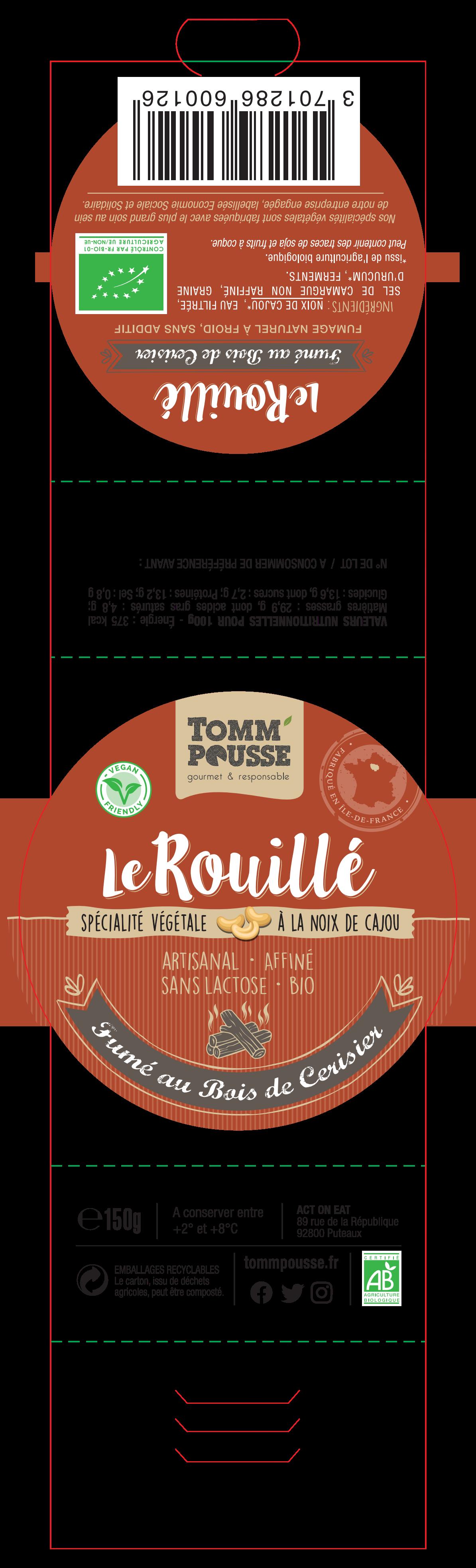 Label for Le Rouillé, fumé au bois de cerisier + Updates of current labels