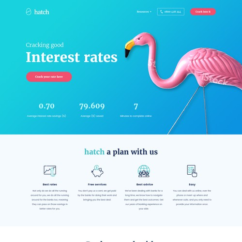 Bold, creative, fun refresh needed for finance website