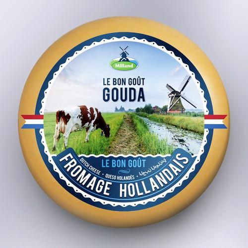 Gouda Cheese Label design