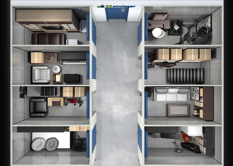 Design for OK Minilager - Indoor self storage