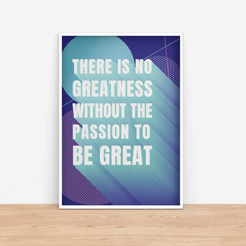 Inspirational canvas art design
