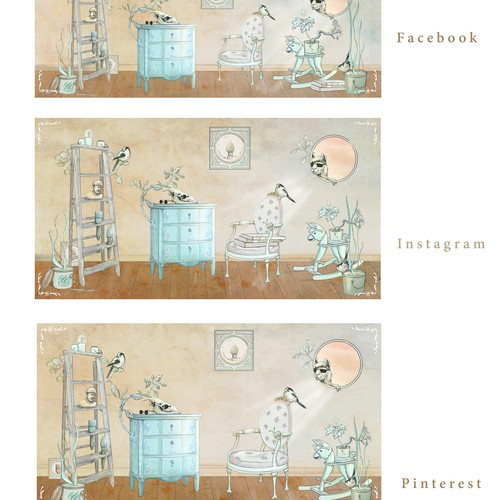 social media banners for Good Bones Paint