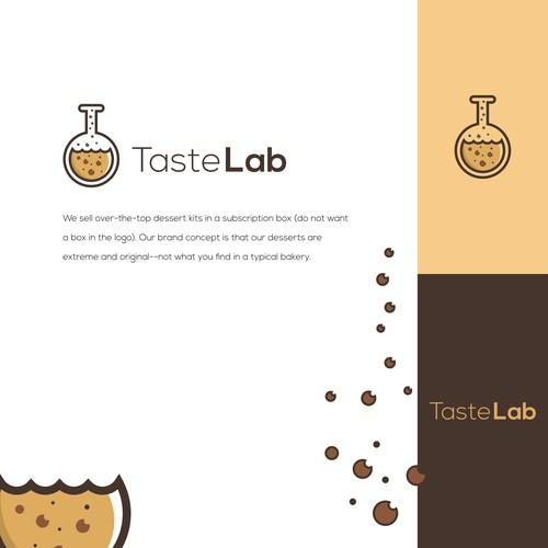 logo concept for taste lab