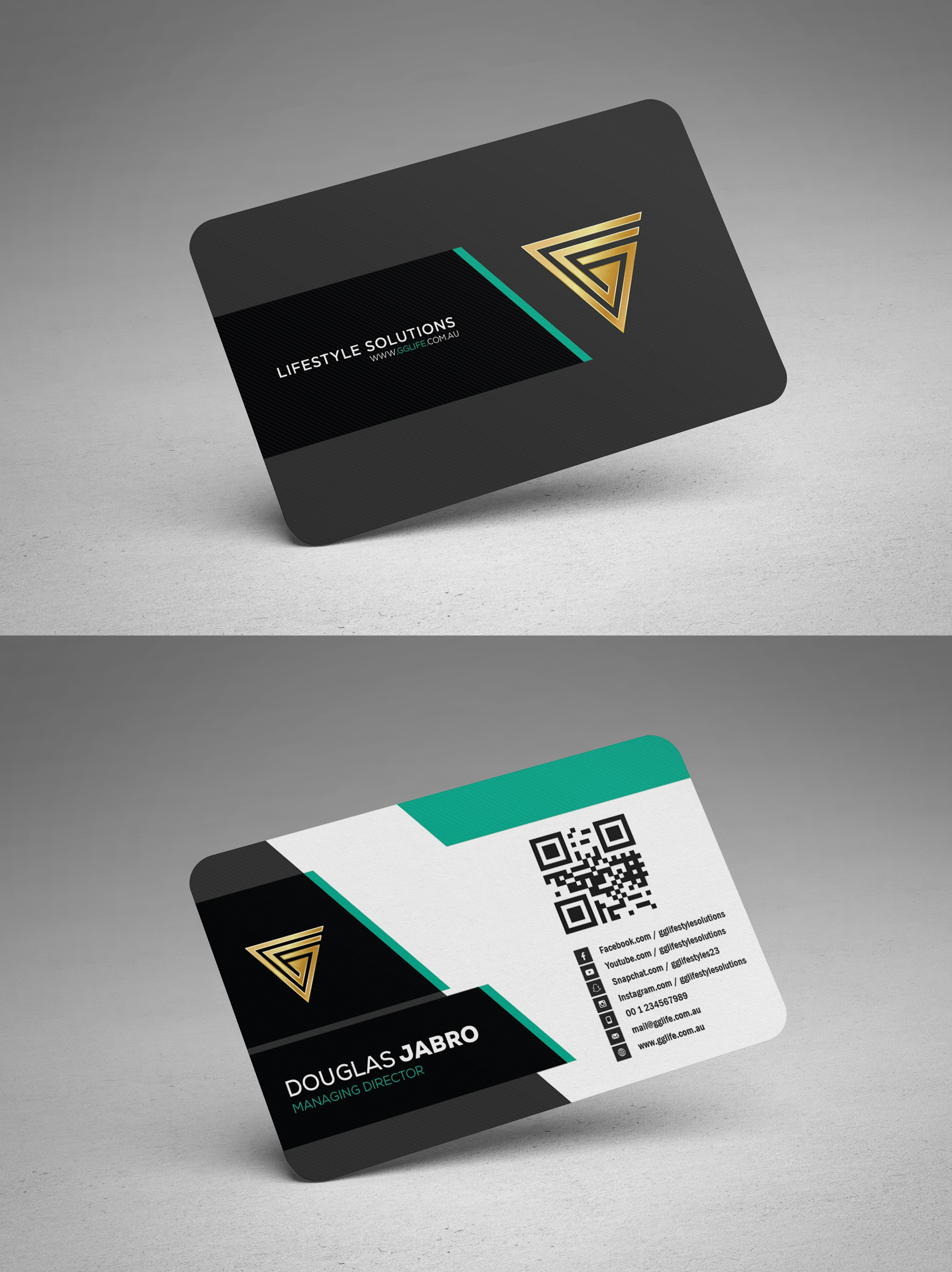 Please design our business card with Youness Yaktine