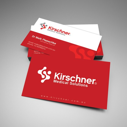 Help Kirschner Medical Solutions with a new logo and business card
