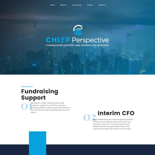 Web design concept for consulting firm.