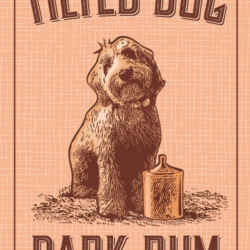 Tilted Dog Dark Rum_Label