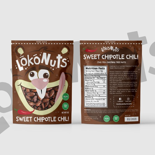 LokoNuts Packaging Design