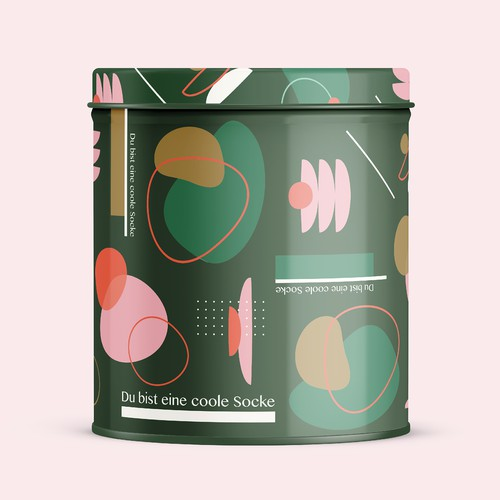 Cool can design concept for creative socks