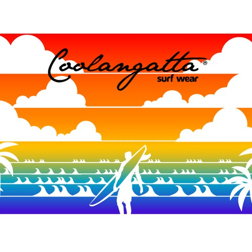 "Towel surf&beach design for ""Coolangatta"""