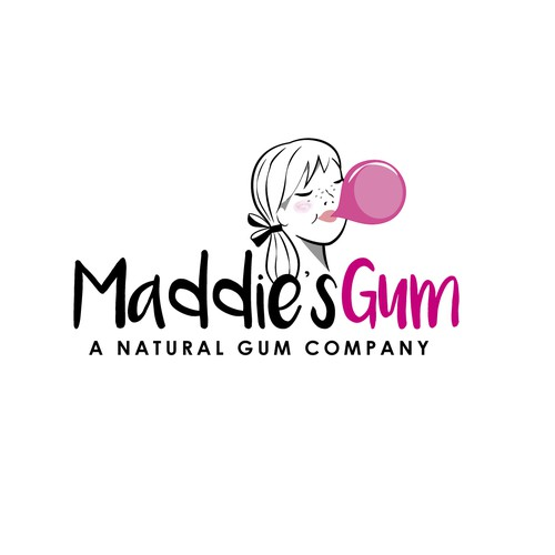 Logo for a new natural gum called Maddie's Gum