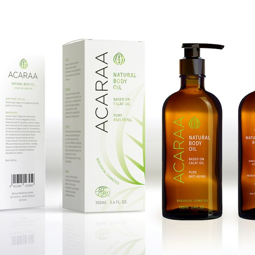 Creative Packaging Design for Natural Cosmetic Line