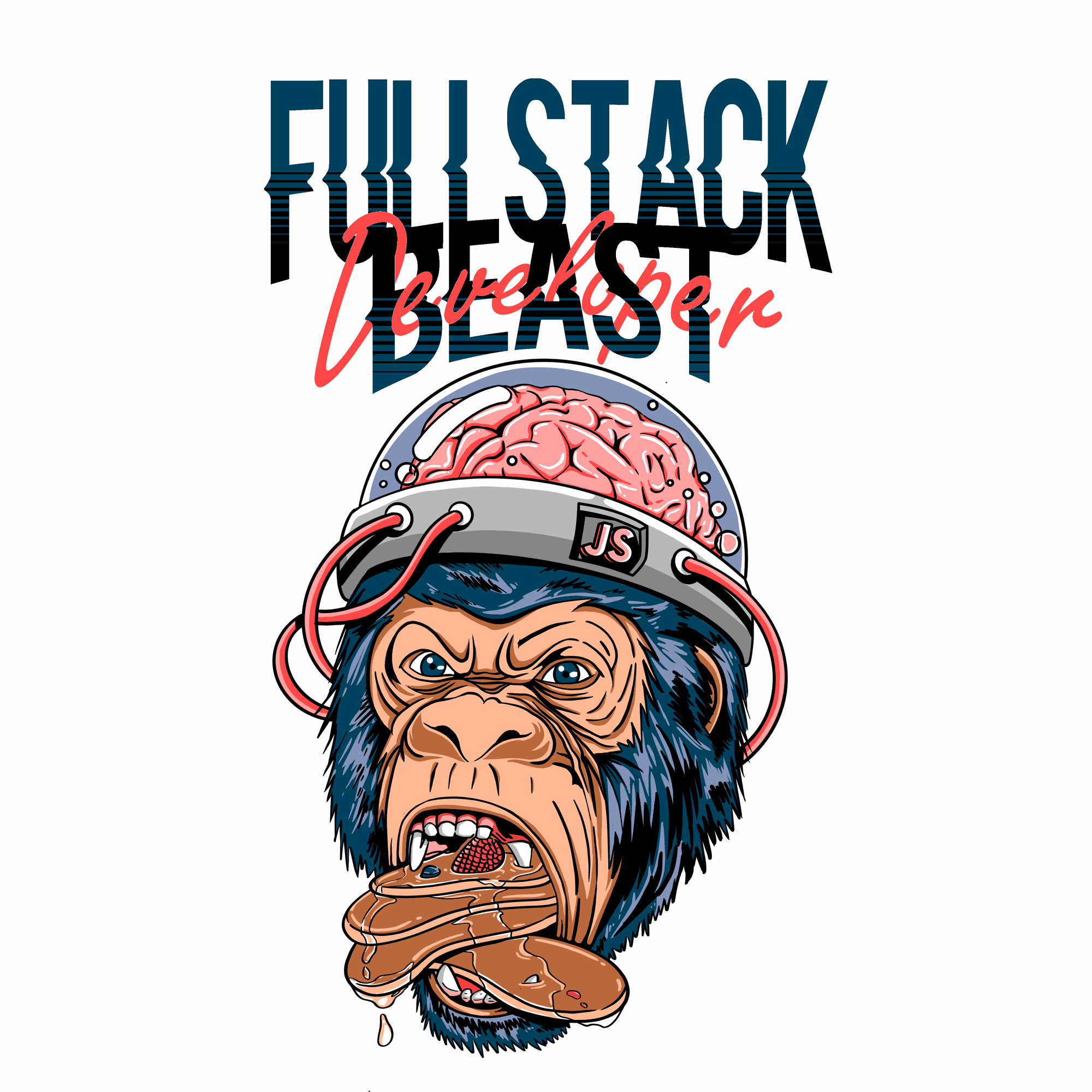 Design a t-shirt for all powerful Fullstack developers out there in the jungle!