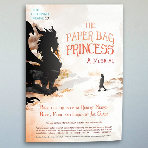 "Poster for the musical ""The Paper Bag Princess"""