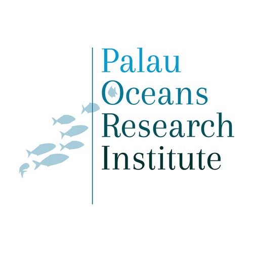 Create a oceans / fish / marine life illustration logo for Palau Oceans Research Institute