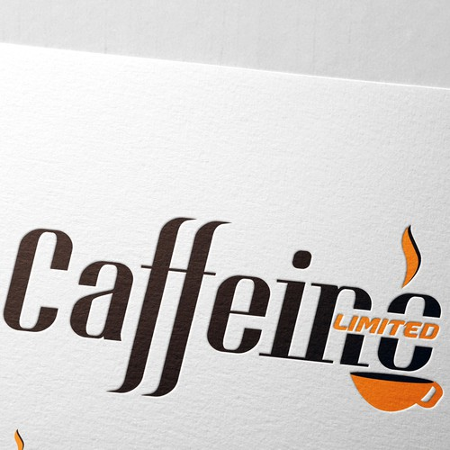 Create a funky, trendy espresso logo for Caffeine Limited