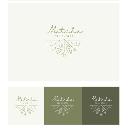 Logo for premium matcha products