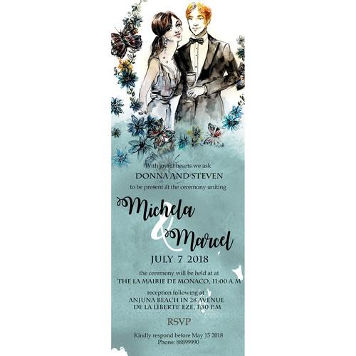 Persolnalized wedding invite