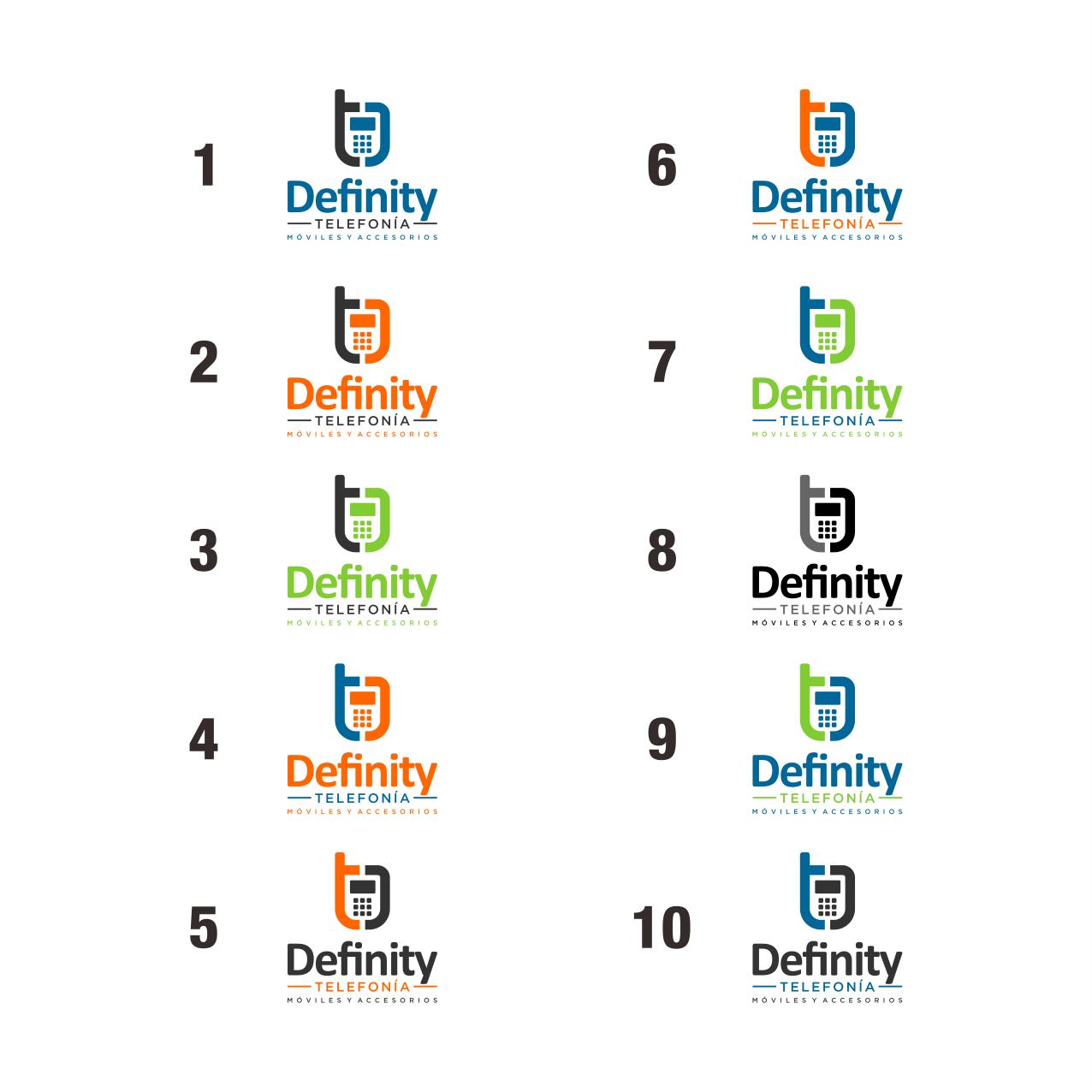 """Diseña un logo para nuestra empresa  """"Definity Telefonía"""""""