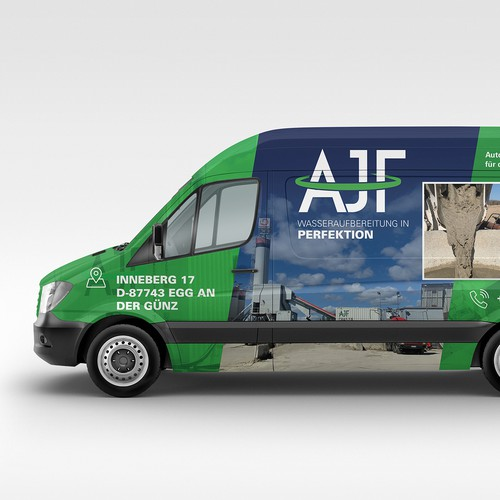 AJF Car Wrap Design