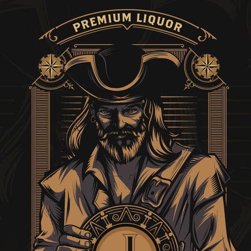 J Cream, Premium Liquor | Label Design