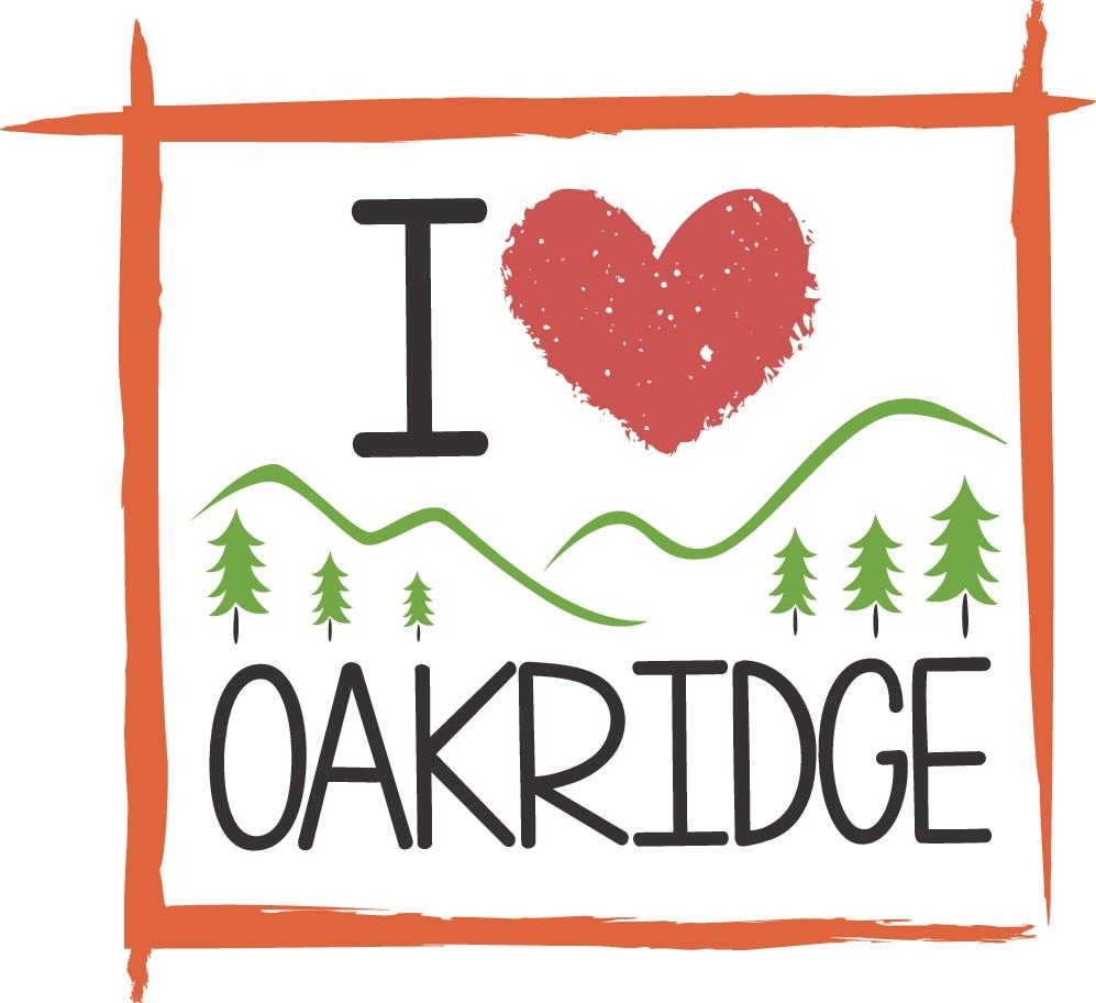 'I love Oakridge' sticker