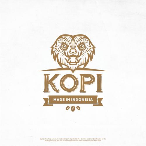 Kopi Made in Indonesia (Luwak Mask - Vintage)