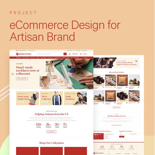 eCommerce Experience for handcrafted gifting company