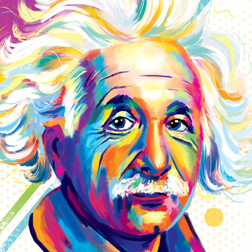 Portrait of Albert Einstein