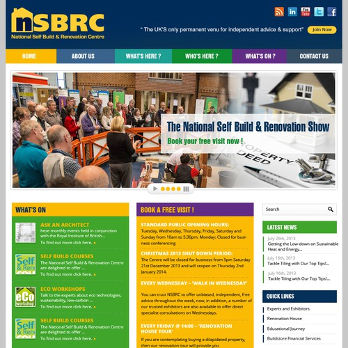 Help http://www.nsbrc.co.uk/ with a new website design
