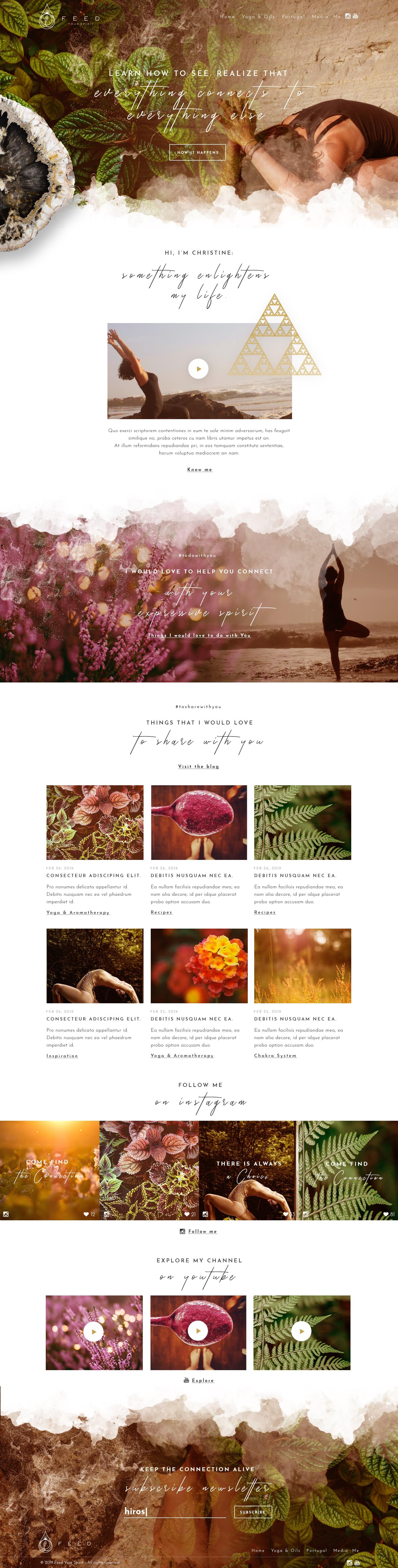"""""""Feed your Spirit"""" braucht (D)ein aussagekräftiges Webdesign"""