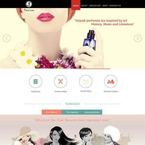 Colourful parfume site desing