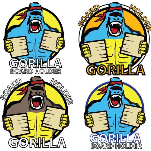 Gorilla logo ilustration