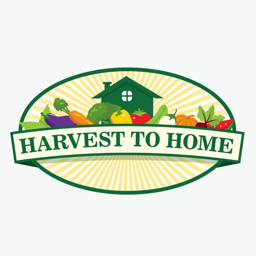 logo for Harvest to Home, Organic Vegetable & Herb Garden Service