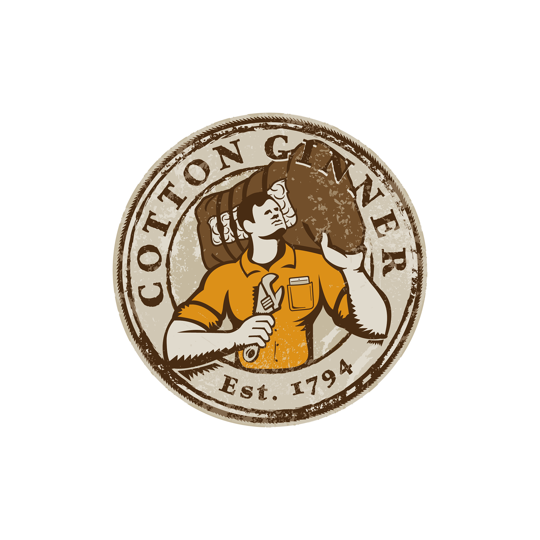 Cotton Ginner logo - opportunity for a unique design challenge