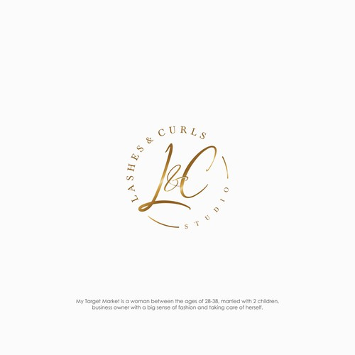 Luxurious logo for Lashes & Curls Studio