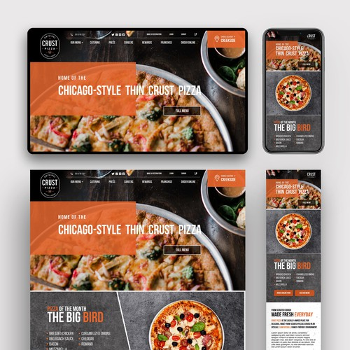 Website Contest Winner For a Pizza Restaurant