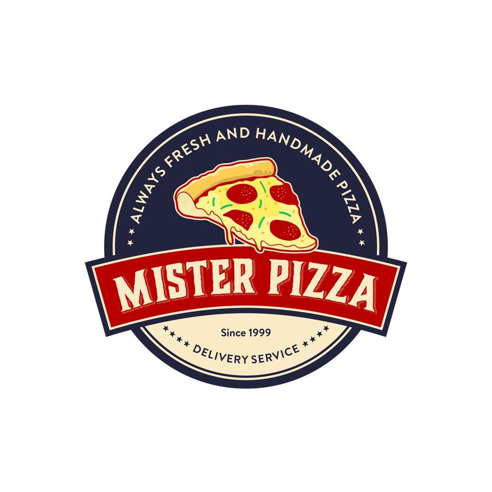 Mr. Pizza Lieferservice braucht ein neues Logo