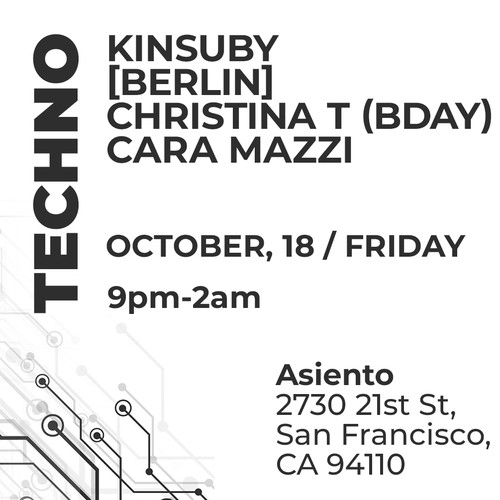 Facebook page cover for Asiento Techno Event