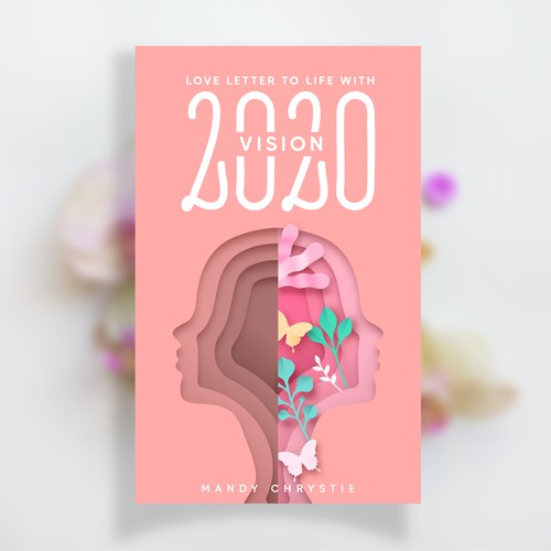 Modern book cover about mental health