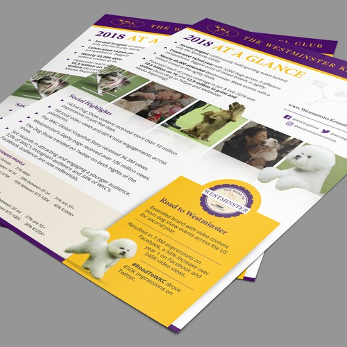 Letter Size Flyer for Westminster Kennel Club