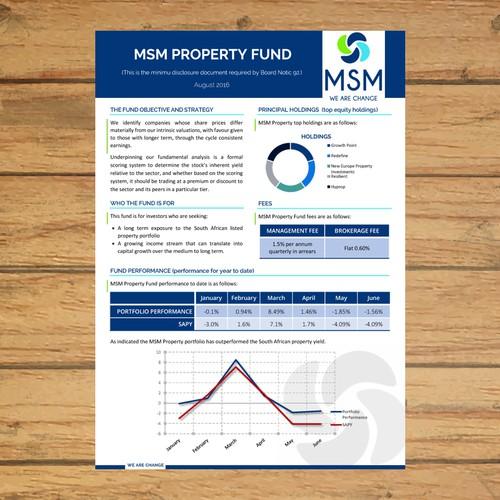 Fact Sheet for Investment Fund