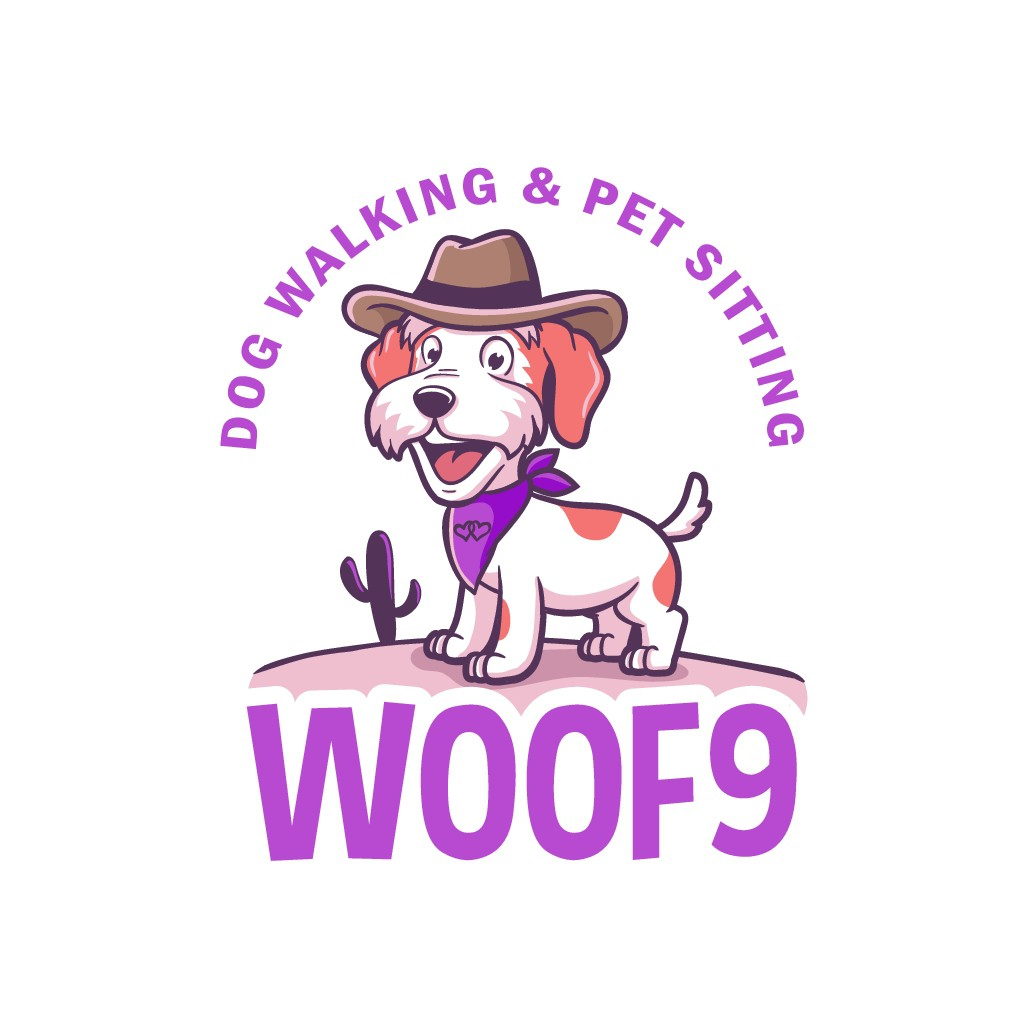 Design a dog walking/ Petsitting logo with a texas theme